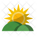Hills Landscape Mountains Icon