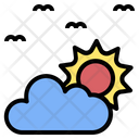 Sunrise Sky Cloudy Icon