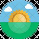 Sunrise Sun Climate Icon