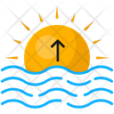 Sea Sun Sunrise Icon