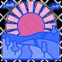 Sunrise Landscape Summer Icon
