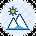 Sunrise Sunset Mountain Icon