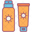 Sunscreen Cream Lotion Icon