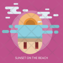 Sunset Beach Water Icon