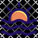 Sunset Dusk Sea Icon