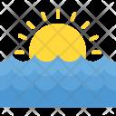 Beach Sunset Sundawn Icon