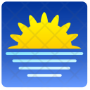 Sunset Sun Sea Icon