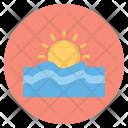 Sunset Sun Forecast Icon