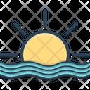 Sun Beach Sunset Icon