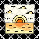 Sunset Sky Landscape Icon