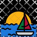 Sun Summer Boat Icon