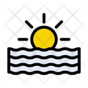 Sunset Sea River Icon