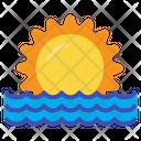 Sunset Beach Holiday Icon