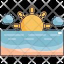 Sea Beach Sun Icon