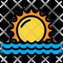 Sunset Sunrise Beach Icon