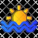 Beach Summer Sunset Icon