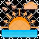 Sun Set Beach Icon