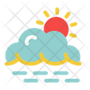 Sunset Cloud Weather Icon