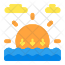 Sunset Weather Forecast Icon