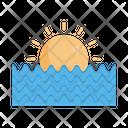 Sunset Sea Forecast Icon