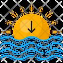 Sea Sun Sunset Icon
