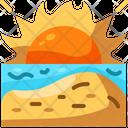 Sunset Beach Sun Icon