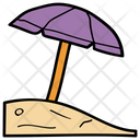 Beach Sunshade Umbrella Icon