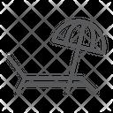 Umbrella Sun Lounger Icon