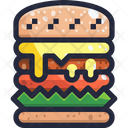 Super Burger Burger Humburger Icon