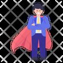 Business Hero Super Businessman Successful Businessman Icon