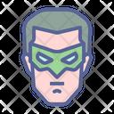 Lantern Superhero Character Icon