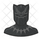 Superhero Black Panther Avatar User Icon