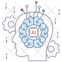 Brain Transformation Digital Transformation Artificial Intelligence Icon