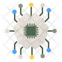 Microprocessor Microchip Ai Icon