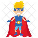 Kid Superman Superhero Cartoon Comic Superhero Icon