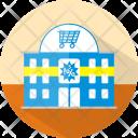 Supermarket Building Market Icon
