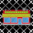 Supermarket Smalltown Building Icon