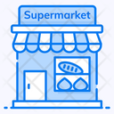 Supermarket Shopping Mall Store Icon