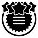 Superstar Championship Badge Label Icon