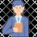 Supervisor Male Icon