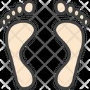 Supination Foot Print Hyperpronation Icon