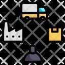 Supply Chain Supplier Distribution Icon