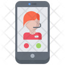 Phone Support Woman Icon