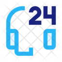 Support Hours 24 Hour Support Icon