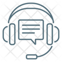 Support Headphones Comment Icon