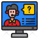 Computer Service Help Icon