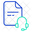 Head Phone Support File Music File Icon