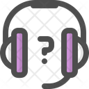 Headphones Technical Support Customer Service Icon