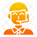 Support Service Customer Care Help Line Icon