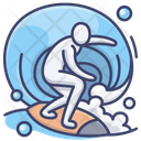 Surfing Sports Water Icon